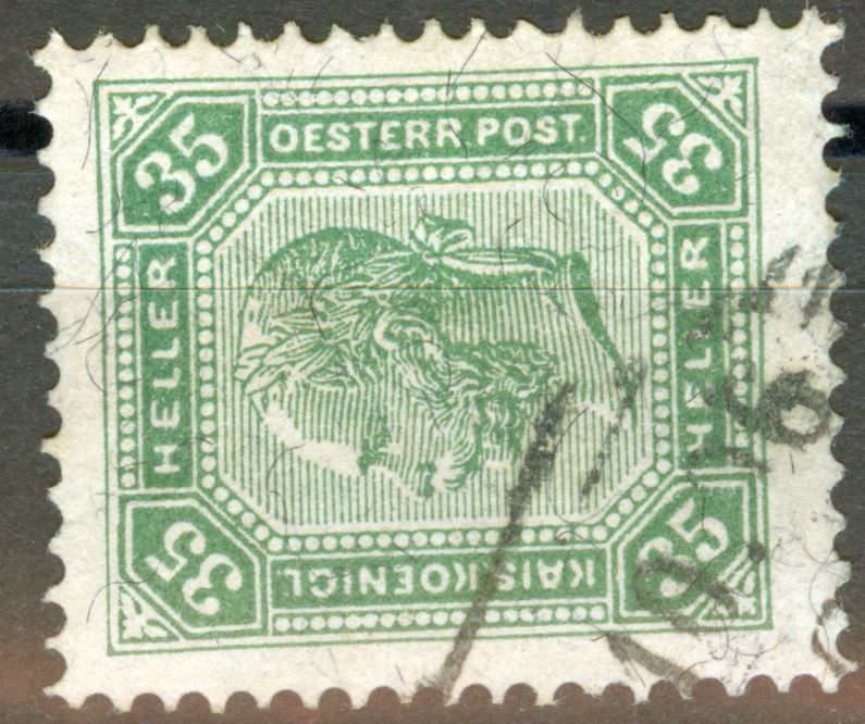 Österreich - Schwarze Fasern - liegend oder stehend! At_1899_35h_mi_00