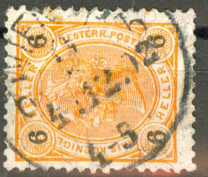 Österreich - Schwarze Fasern - liegend oder stehend! At_1899_6h_mi_00