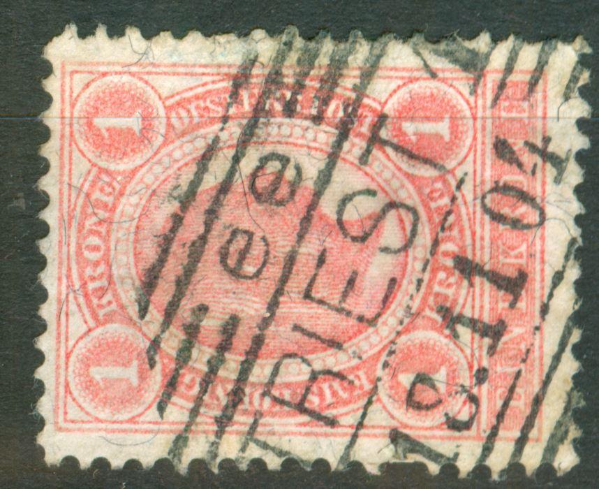 Österreich - Schwarze Fasern - liegend oder stehend! At_1901_1kr_mi_00