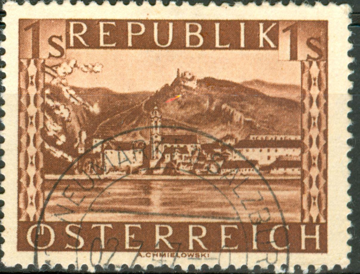 Landschaftsbilder Schillingausgaben ANK 767 - 774 At_1945_1s_20a