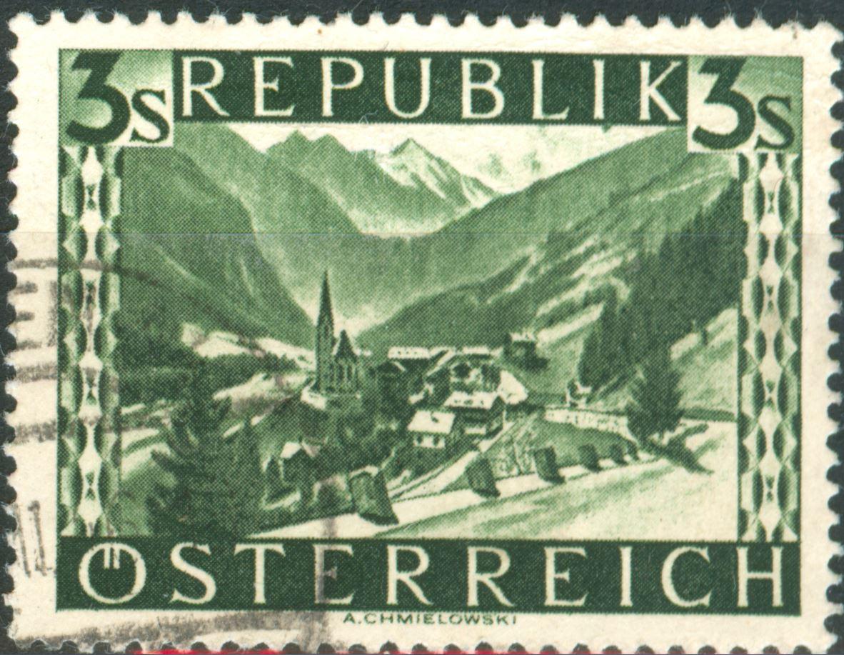 Landschaftsbilder Schillingausgaben ANK 767 - 774 At_1945_3s_20a