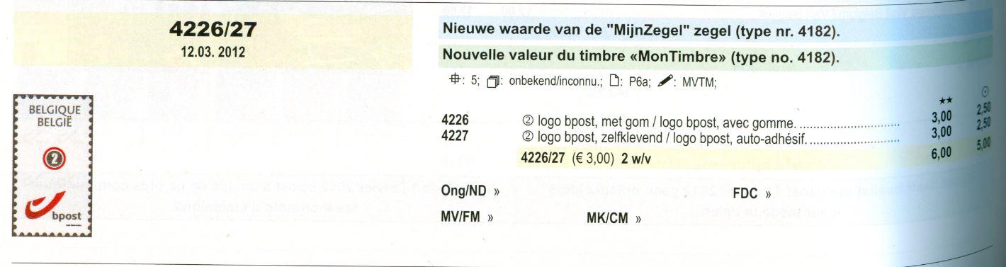 Meine Marke aus Belgien mit Bpost! Be_2012_bpost_2_smal_ocb
