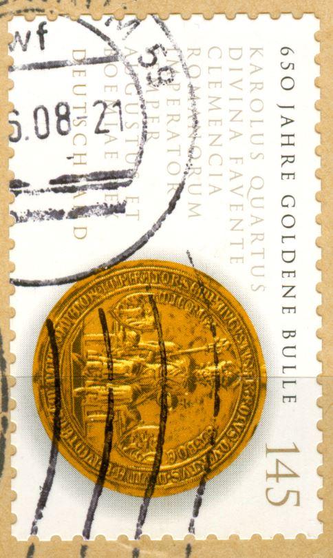 Neue SAD's - unterschiedliche Weissdrucke bei dieselbe Briefmarken!  De_2006_goldene_bulle_120