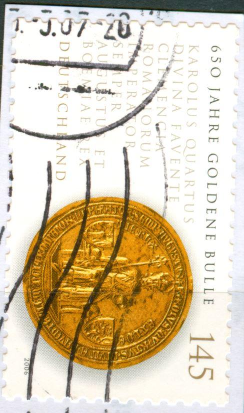 Neue SAD's - unterschiedliche Weissdrucke bei dieselbe Briefmarken!  De_2006_goldene_bulle_140