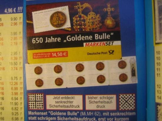 Neue SAD's - unterschiedliche Weissdrucke bei dieselbe Briefmarken!  De_2006_goldene_bulle_broschurex00