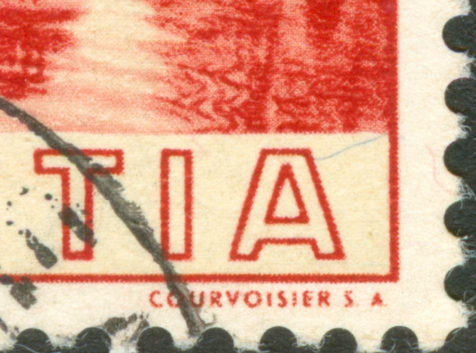 Tête-bêche Bogen bei Rakeltiefdruck Courvoisier S.A.  Ch_1938_bit_20_L_01